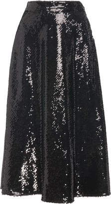Co Sequined Midi Skirt Size: S