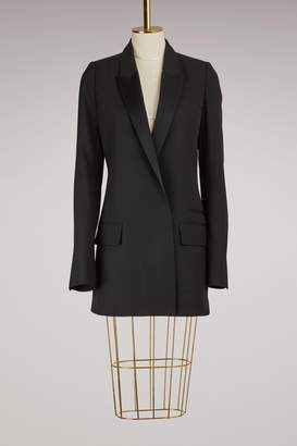 Haider Ackermann Long Wool Blazer with Satin Lapel