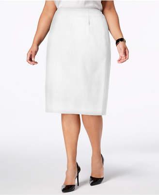 Kasper Plus Size Skimmer Skirt