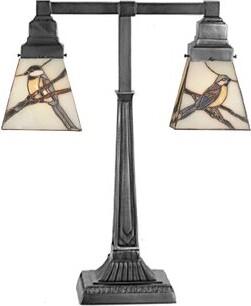 "Tiffany & Co. Meyda Animals Early Morning Visitors 19.5"" Table Lamp Meyda"