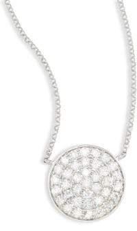 Effy Diamond & 14K White Gold Circle Pendant Necklace