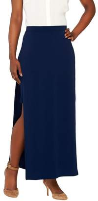 G.I.L.I. Got It Love It G.I.L.I. Matte Jersey Pull-On Maxi Skirt with Side Slits