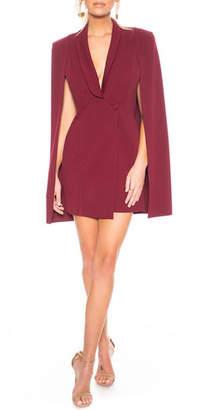 Katie May Boss Lady Mini Cape Dress