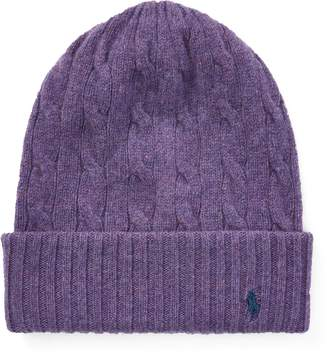 Ralph Lauren Cable Cashmere-Wool Hat