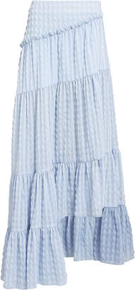 3.1 Phillip Lim Gingham Ruffled Asymmetric Skirt