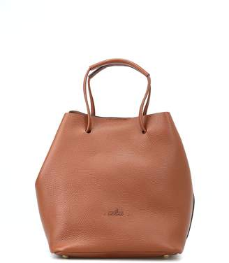 05195b4d55a4 at Italist · Hogan Brown Soft Hammered Leather Bucket Bag