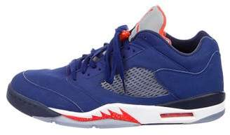 Nike Jordan 2016 5 Retro Low Knicks Sneakers
