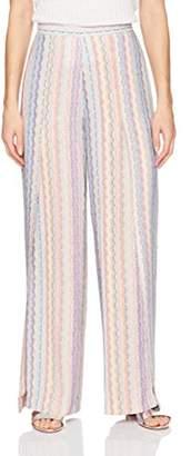 BCBGMAXAZRIA Women's Michael Printed Flyaway Pant