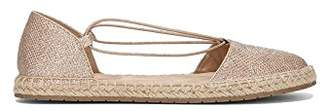 Kenneth Cole Reaction Women's How Laser Flat Elastic Straps Espadrille Wedge Sandal