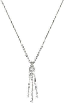 Judith Ripka Sterling Diamonique Tassel Necklace