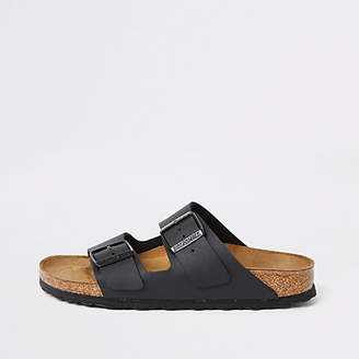 River Island Birkenstock Arizona black two strap sandals
