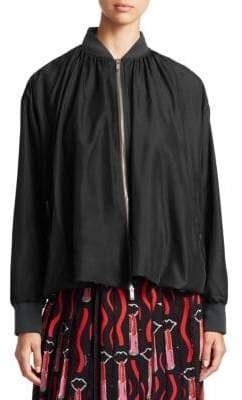 Valentino Silk Blouson Jacket