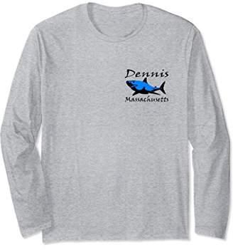 Unisex Dennis Massachusetts Shark Long Sleeve T-Shirt Large