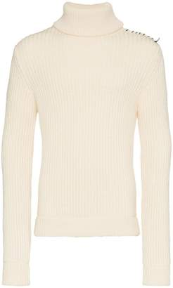 Vyner Articles ribbed roll neck wool jumper