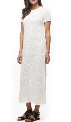 Women's James Perse 'Web Jersey' Short Sleeve Maxi Dress $245 thestylecure.com