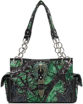 WESTERN ORIGIN Realtree Camouflage Western Buckle Shoulder Bag Hobo Totes Women's Handbag
