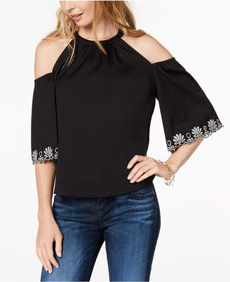 Maison Jules Cold-Shoulder Top, Created for Macy's