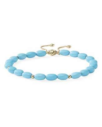 David Yurman 18k Gold Bijoux Turquoise Adjustable Bracelet