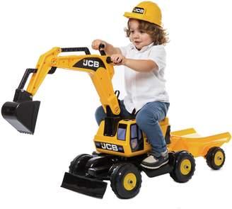 JCB Excavator Trailer and Helmet Ride On