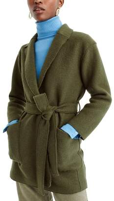 J.Crew J. Crew Sabrina Boiled Wool Wrap Coat (Regular & Petite)