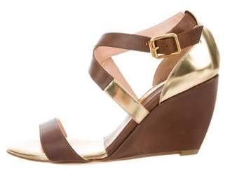 Rupert Sanderson Leather Wedge Sandals