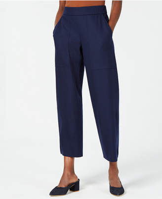 Eileen Fisher Wool Pull-On Cropped Ankle Pants, Regular & Petite