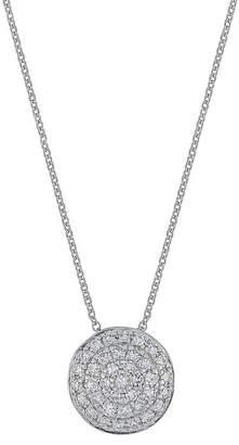 Carriere Diamond Disc Pendant Necklace - 0.20 ctw