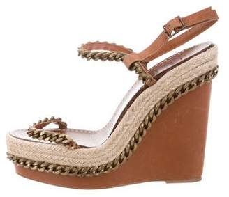 Christian Louboutin Chain-Link Espadrille Wedges