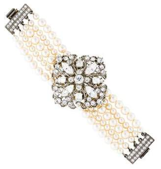 Ben-Amun Crystal & Faux Pearl Multistrand Bracelet