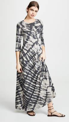 Raquel Allegra Half Sleeve Drama Maxi Dress