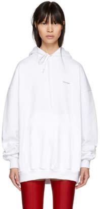 Balenciaga White Mini Logo Hoodie
