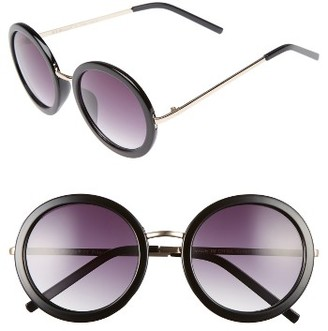 Women's A.j. Morgan 51Mm Round Sunglasses - Black $24 thestylecure.com