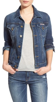Women's Hudson Jeans 'The Signature' Denim Jacket $198 thestylecure.com
