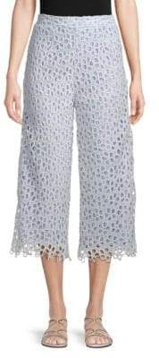 ENGLISH FACTORY Lace Cropped Pants