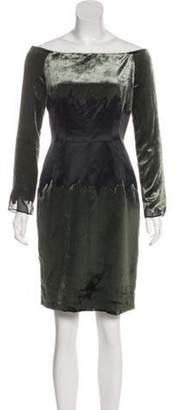 Proenza Schouler Off-The-Shoulder Velvet Dress Black Off-The-Shoulder Velvet Dress