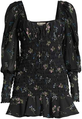 For Love & Lemons Dixon Floral Smocked Dress