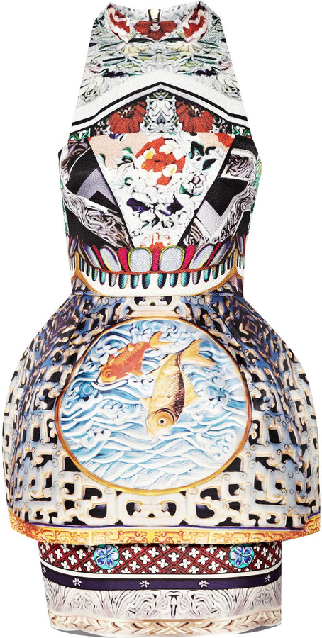 Mary Katrantzou Kite Runner printed silk-jacquard dress
