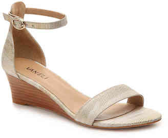 Women's Vala Wedge Sandal -Beige/Gold $160 thestylecure.com
