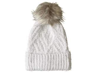 Echo Fuzzy Cable Hat with Pom