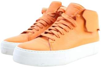 Buscemi Orange Leather Boots
