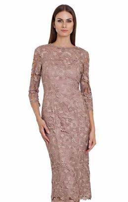 JS Collections - Quarter Length Sleeves Lace Dress 864572 $615 thestylecure.com