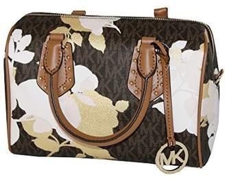 Michael Kors MICHAEL Women's ARIA Small Leather Satchel Studded Handbag