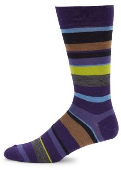 Striped Mid Calf Wool-Blend Socks $20 thestylecure.com