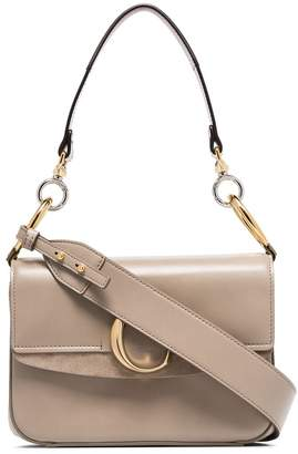 Chloé grey C ring small leather shoulder bag