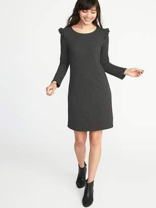 Old Navy Ruffle-Trim Ponte-Knit Tee Dress for Women