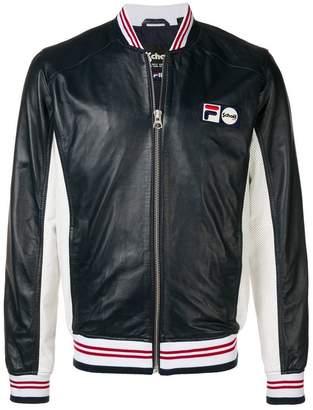 Schott X Fila Pier bomber jacket
