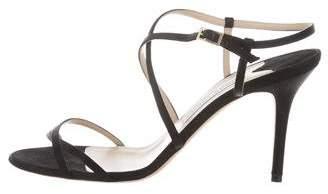 Jimmy Choo Satin Crossover Sandals
