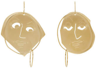 J.W.Anderson Gold Moonface Drop Earrings