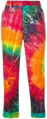 R 13 tie-dye print trousers