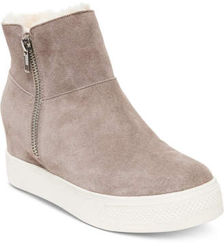 Steve Madden Wanda Faux-Fur Wedge Sneakers